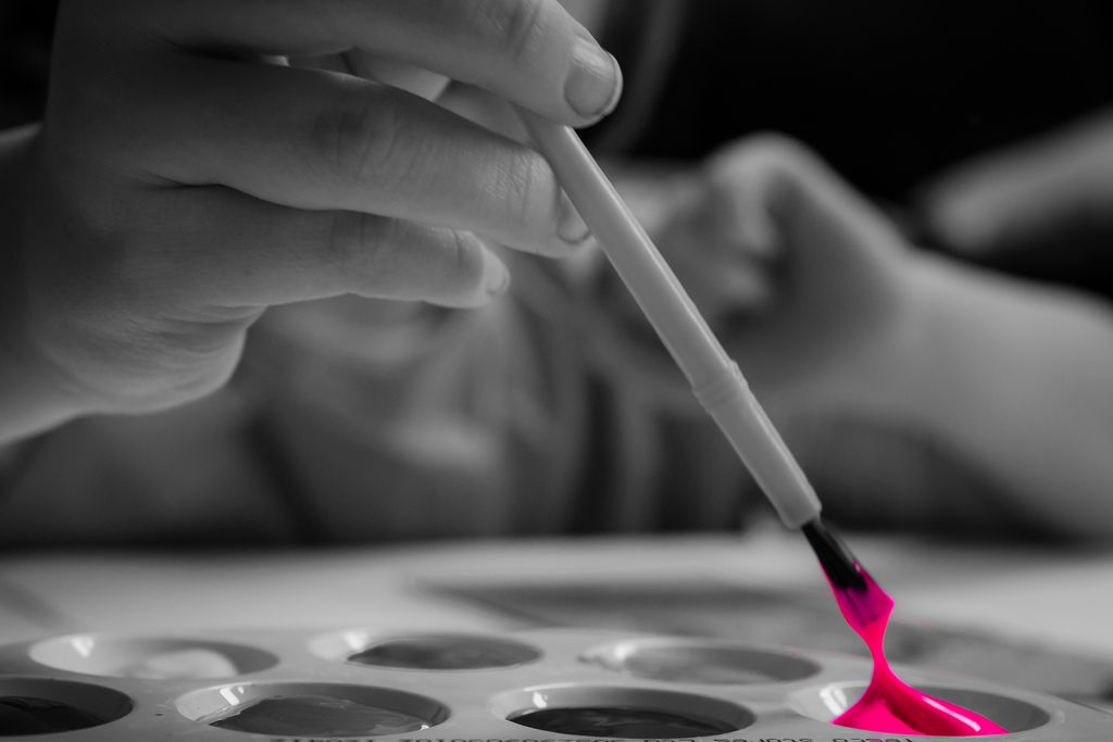 16. My youngest does love her pink paint