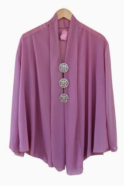 Basic Kimono-Mauve colour