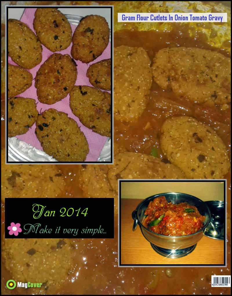 Veg indian good food recipes gram flour cutlets in onions veg indian good food recipes gram flour cutlets in onions tomatoes gravy forumfinder Images