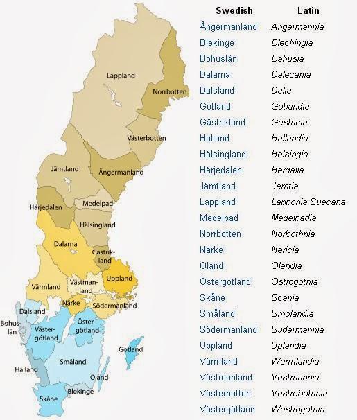 Sweden Map Provinces - Sweden map regions