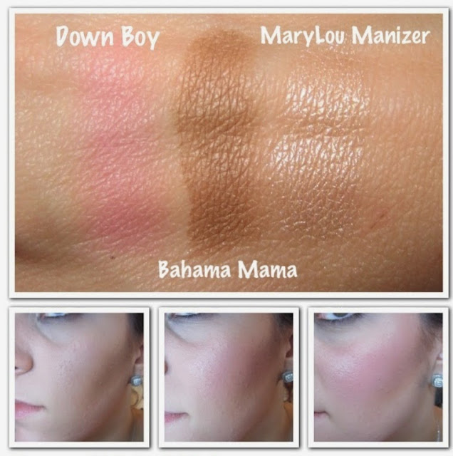 the balm down boy blush mary lou manizer swatch review