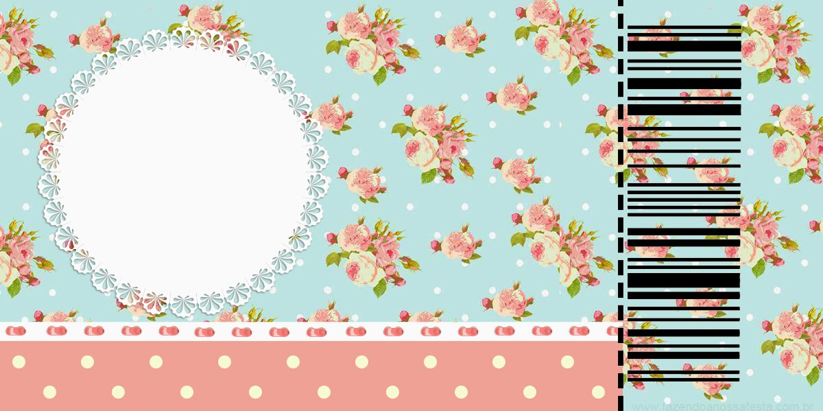 Shabby Chic in Pink and Light Blue: Free Printable Invitations ...