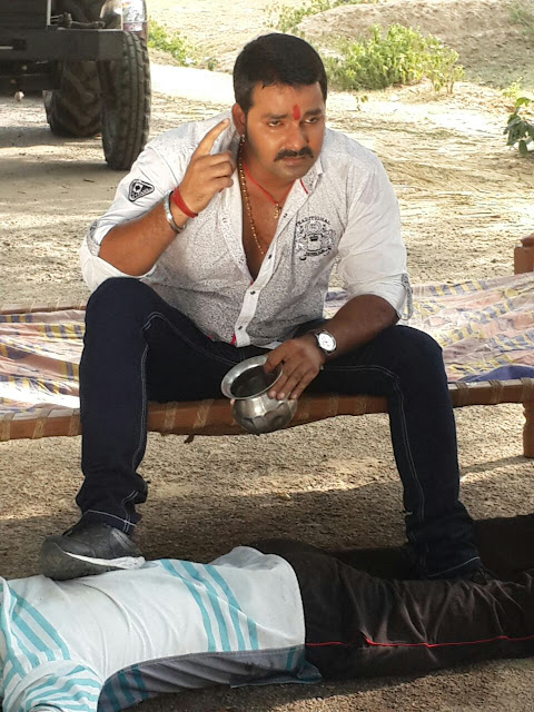 Pawan Singh Upcoming Movie Bhojpuria Raja Shooting stills