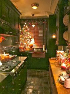 Cozy Holiday Kitchen