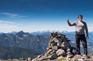 Phil at Mount Schoen's Summit Cairn