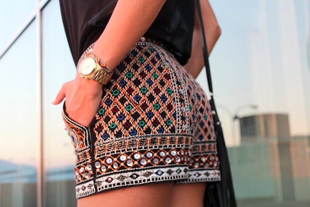 Shorts bordados de Zara