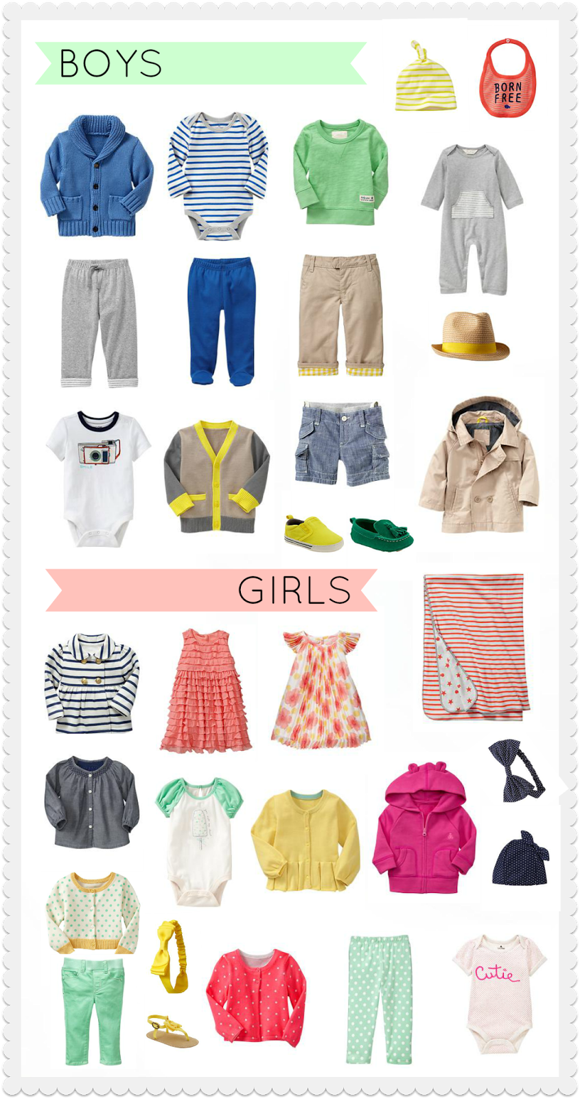baby gap collage