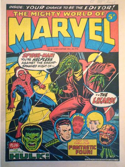 Mighty World of Marvel #12, Jim Starlin cover