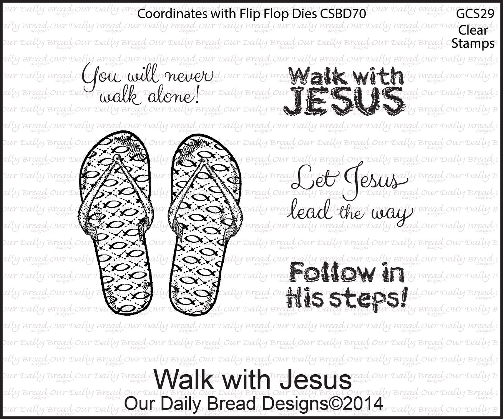 Stamps - Our Daily Bread Designs Walk with Jesus