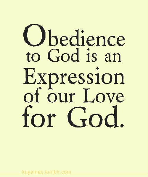 OBEDIENCE TO GOD Quotes Like Success