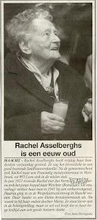 Rachel, die eerder bescheiden was en liever niet in de belangstelling stond, was wel vol lof over haar huisarts.