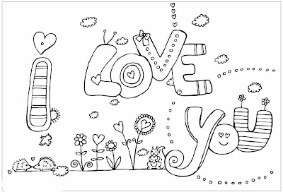 Printable Kids Coloring Pages I Love You