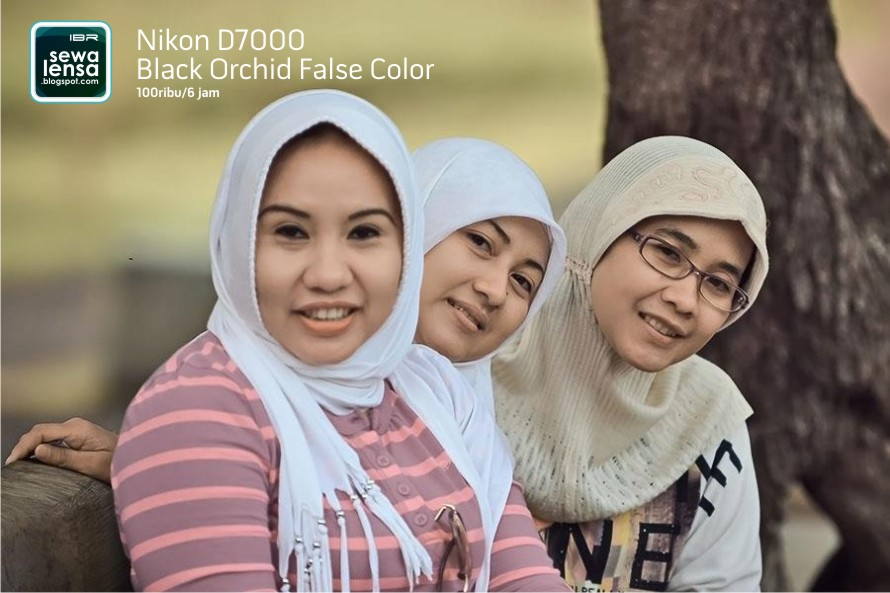 hasil foto Nikon D7000 Black Orchid False Color