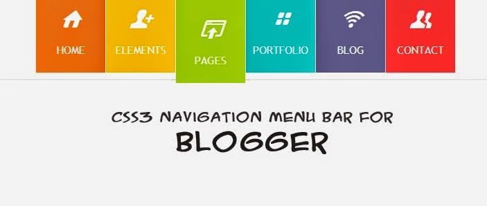 css3 menu bar customized for blogger designer stylish css3 menu bar