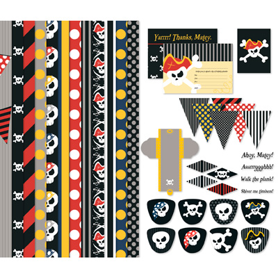 Pirate Party Themed Digital Kit