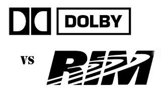 Como anuncia hoy Business Wire en su sección de noticias, Dolby Laboratories acaba de demandar a RIM por infringimiento de patentes en Estados Unidos y Alemania en un intento de detener las ventas de productos BlackBerry y Playbook que la compañía decidió no licenciar. La patente a la que se acogen es la del uso de tecnologías de compresión de audio digital que hacen uso del estándar internacional HE AAC —High Efficiency Advanced Audio Coding—. Esta tecnología proporciona a los fabricantes la posibilidad de dotar a sus productos de cantidades limitadas de espacio de almacenamiento o transmisión con una alta