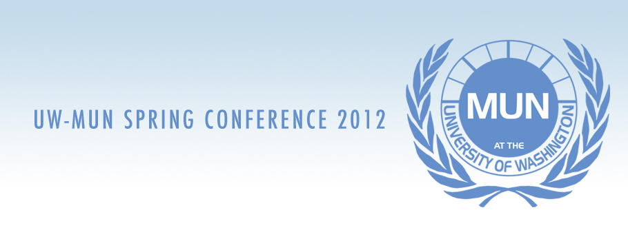 UW-MUN SPRING CONFERENCE 2012