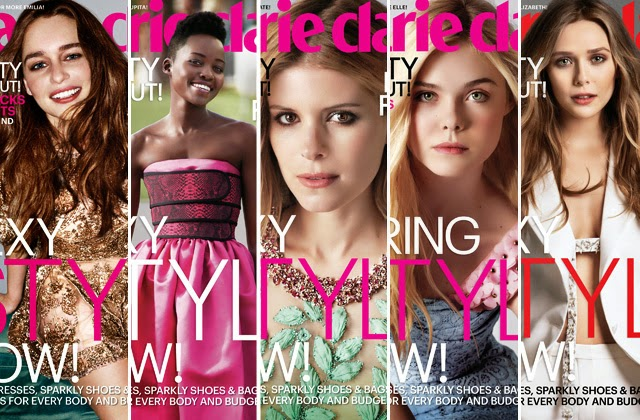 photo Lupita Nyong'o, Kate Mara, Elle Fanning, Emilia Clarke and Elizabeth Olsen are Marie Claire Fresh Face Cover Girls