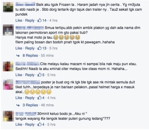 Walaupun kutip RM3 juta dalam 4 hari, filem Mat Moto tetap dikutuk netizen