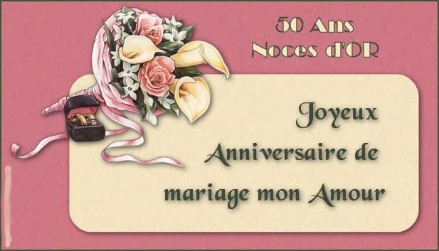 Carte 50 ans de mariage