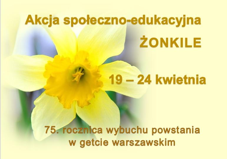 Akcja społeczno-edukacyjna Żonkile 2018