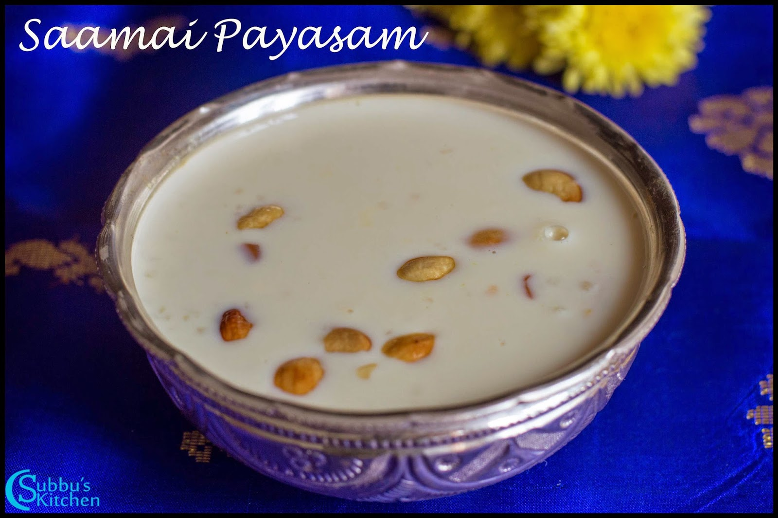 Saamai Paal Payasam Recipe | Little Millet Kheer Recipe