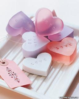 dia dos namorados - sabonetes em forma de coração