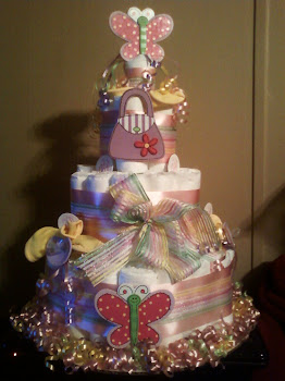 Large Butterfly pastel themed for any sweet baby girl