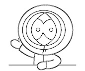 #4 Kenny McCormick Coloring Page