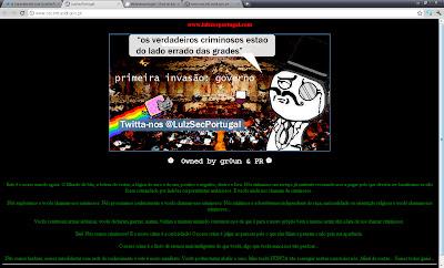 LulzSec Ciberguerrilha Portugal LulzSecPortugal Hacker Team Attack Ciber Guerrilla DDOS Ataques Alvos Bolsa de Valores Parlamento PSD PS CDS SIS GOV
