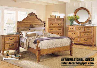 classic American bedroom wood furniture designs, classic bedroom style