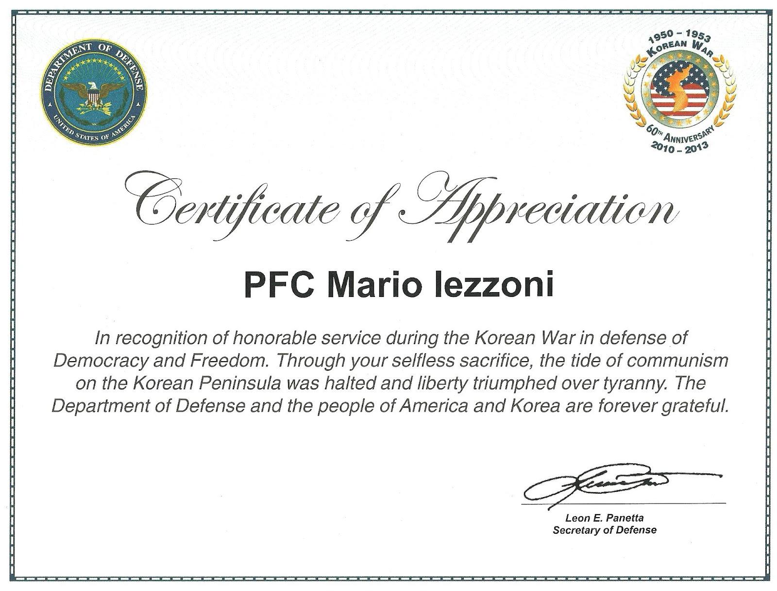 Military Certificate Of Appreciation Template Pictures to Pin on – Army Certificate of Appreciation Template