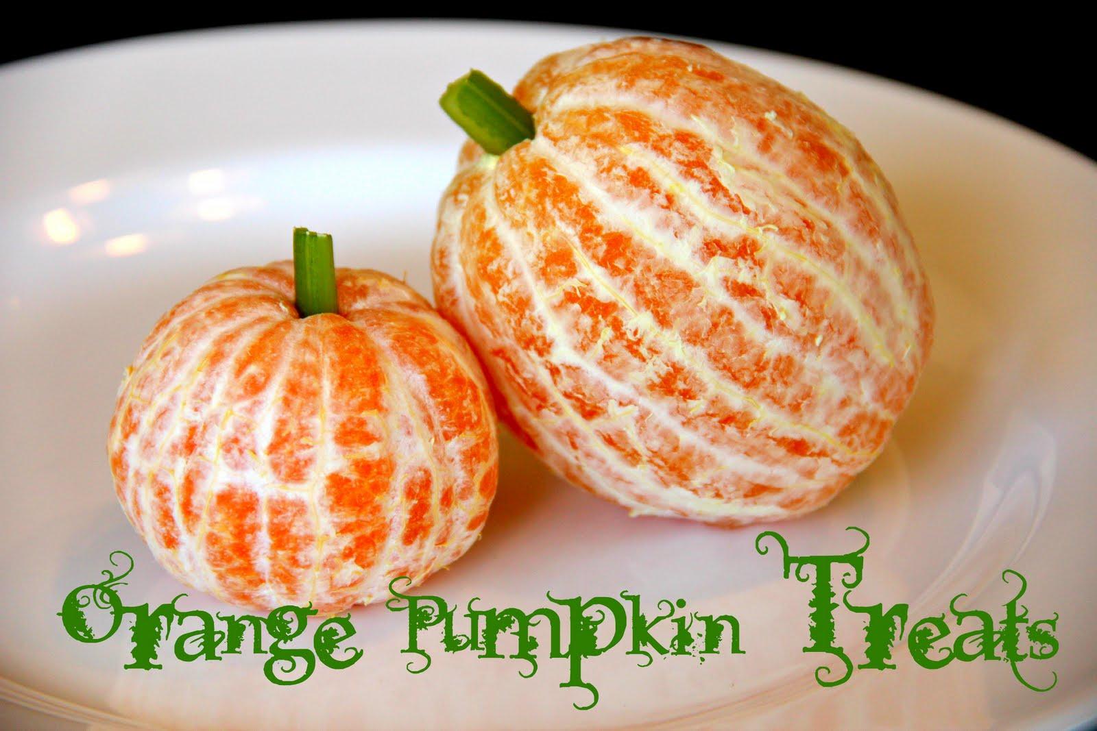 Blue skies ahead orange pumpkin treats for Easy fun halloween treats for school