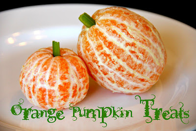 halloween food gifts: orange pumpkin treats