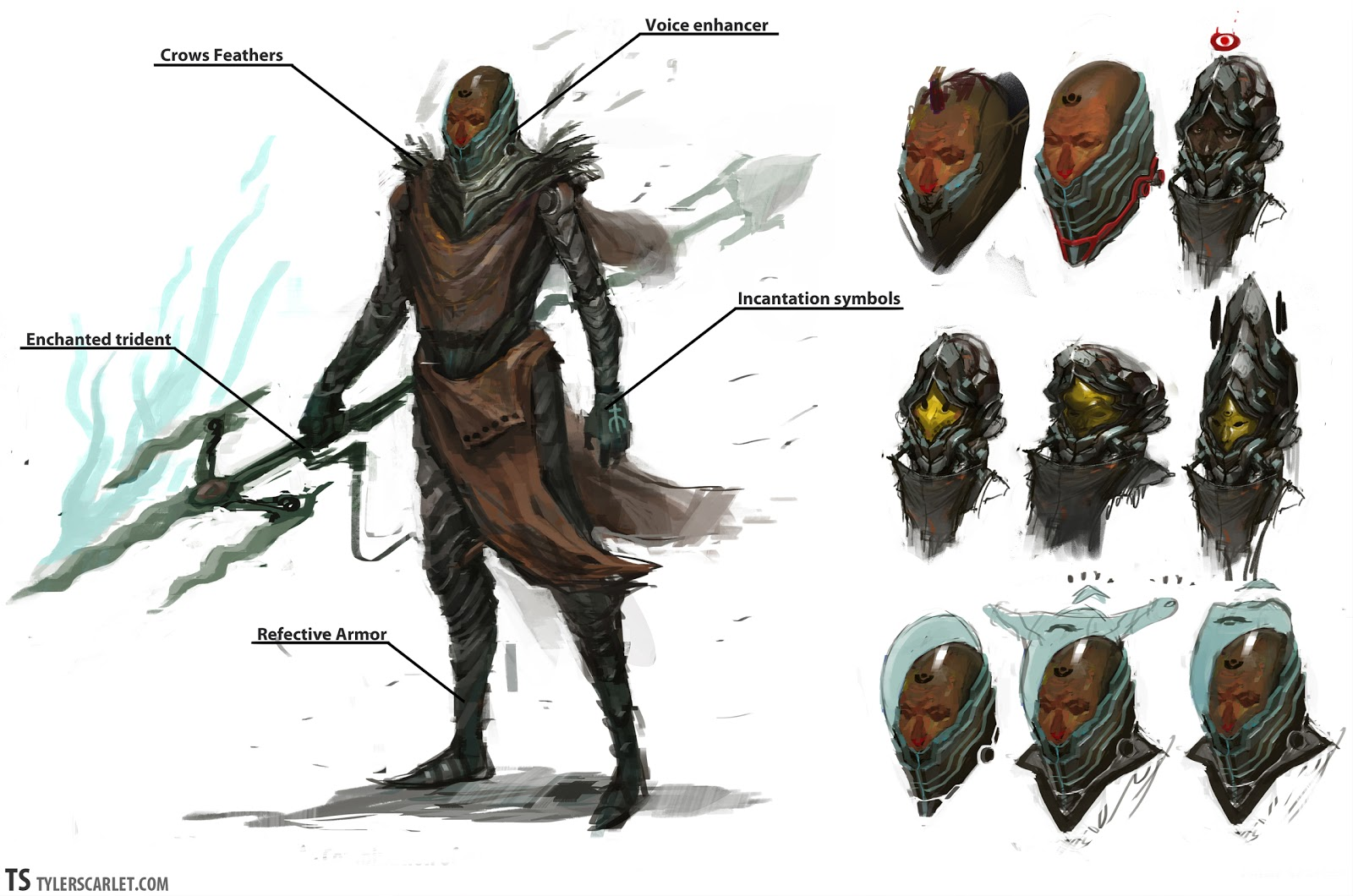 Character Design Concept : Tyler scarlets art new character designs