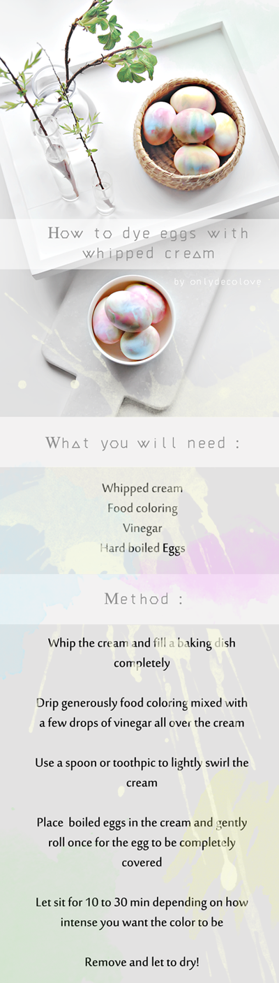 How To Dye Eggs With Whipped Cream Only Deco Love