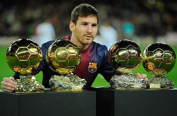 4 gelar Ballon D'or Messi