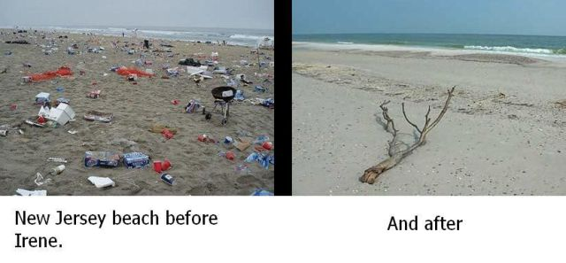 New Jersey Beach Before And After Irene 2011