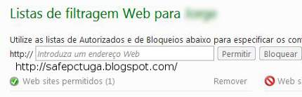 Como bloquear sites - Programa Windows Live