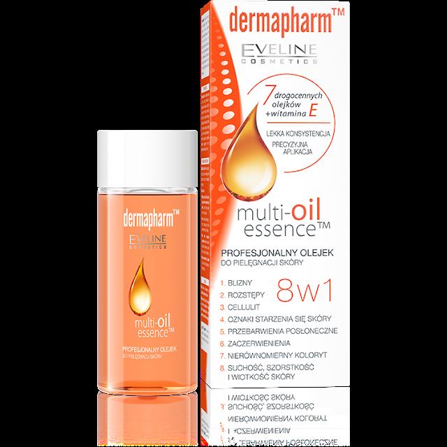 Eveline Dermapharm, Multi - Oil Essence (Profesjonalny olejek do pielęgnacji skóry 8 w 1)