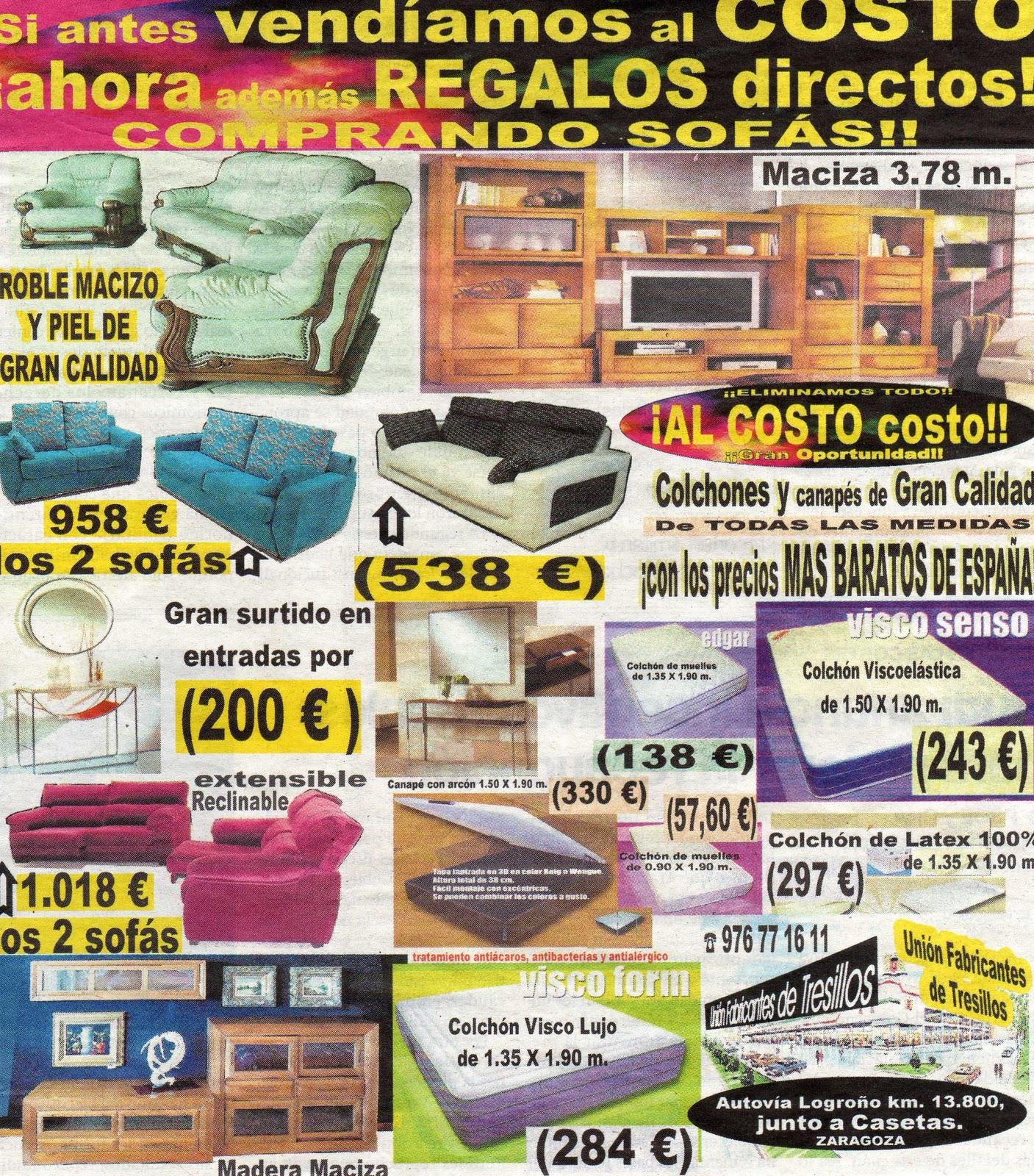 Uni n fabricantes de tresillos octubre 2011 for Tresillos economicos