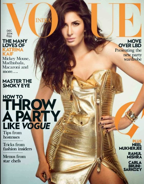 Katrina Kaif Hot On The Cover of Vogue Magazine
