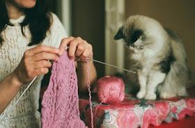 Tricotando com elas ...