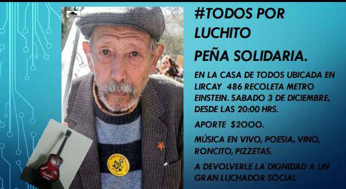 RECOLETA: PEÑA SOLIDARIA  #TODOS POR LUCHITO