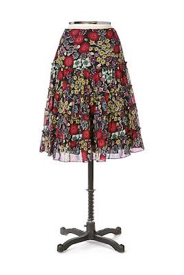 Anthropologie Happy Florist Skirt