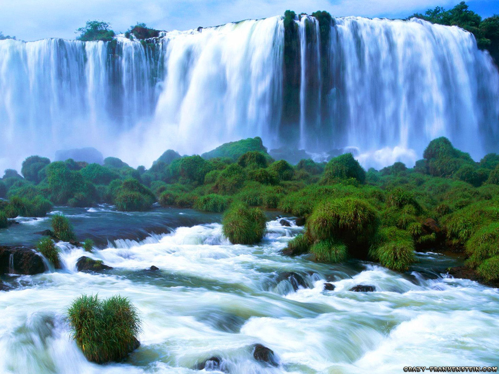Wow lovely and most beautiful scenery of waterfall wallpaper