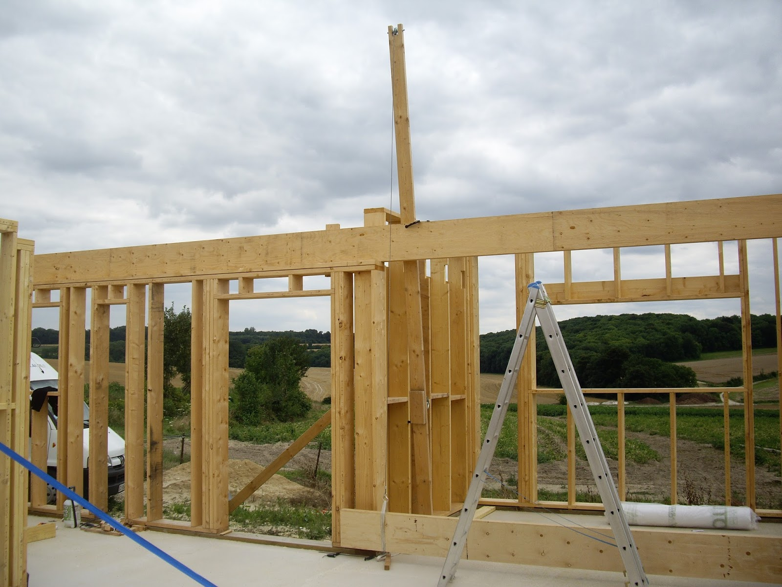 Notre auto construction passive maison ossature bois m for Construction ossature bois