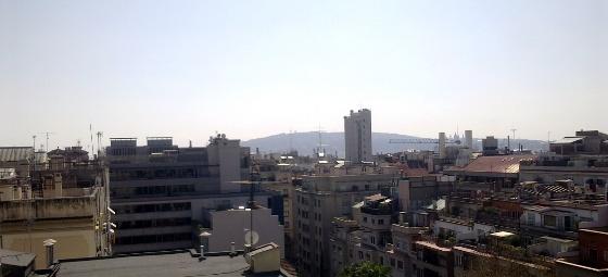 Barcelona con Montjuich. 18 marzo 2012