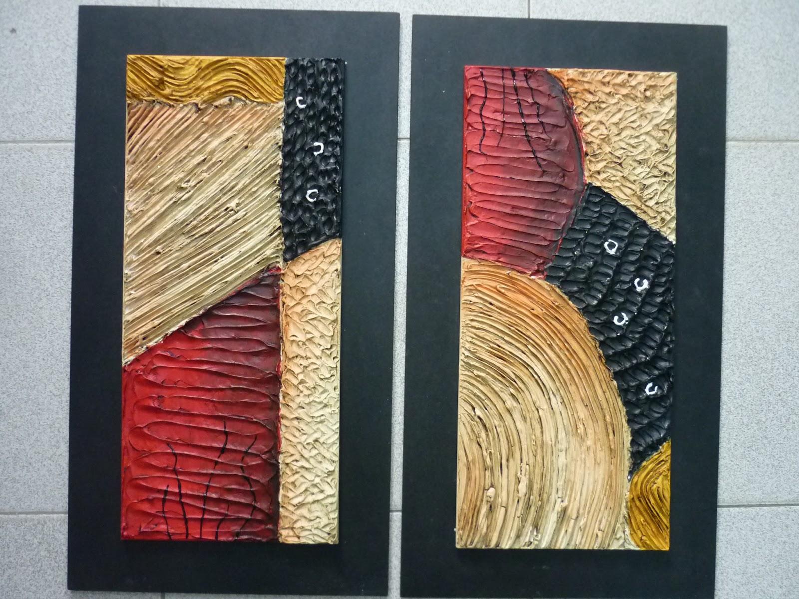 Creaciones de silvia lorena y dos de sus trabajos - Cuadros con texturas abstractos ...