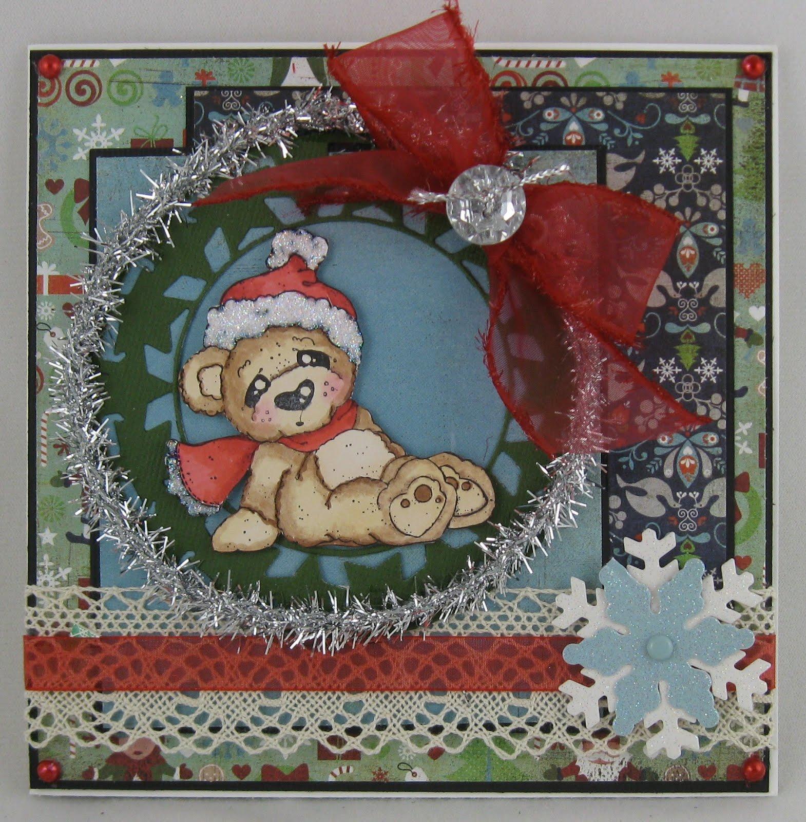Christina39;s Card Connection: Cozy Christmas Bear